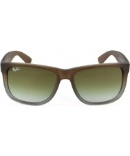 RayBan Rb4165 51 justin rubber bruin op grijs 854-7z zonnebril