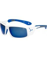 Cebe Ice 8000 glanzend wit blauwe zonnebril