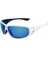 Bolle Highwood glanzend wit blauw gepolariseerde offshore-blauwe zonnebril