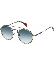 Tommy Hilfiger Th 1455-s bqz 08 matte blauwe zonnebril