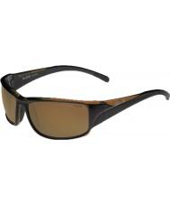 Bolle Keelback glanzend bruine gepolariseerde ag-14 zonnebril