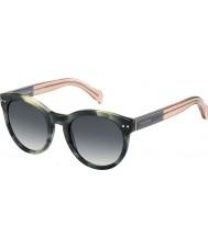 Tommy Hilfiger Ladies th 1291-ns mbr 9o groen havana roze zonnebril