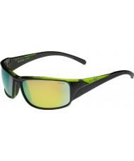 Bolle Keelback glanzend zwart groen gepolariseerde bruin smaragd zonnebril