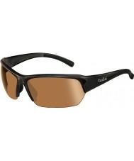 Bolle Ransom glanzende zwarte modulator v3 golf zonnebril