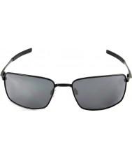Oakley Oo4075-01 vierkante draad polished black - black iridium zonnebril
