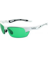 Bolle Bolt s glanzende witte Competivision gun tennis zonnebril
