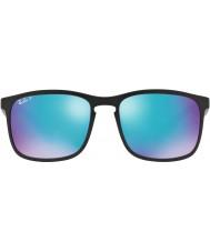 RayBan Rb4264 58 tech chromance matzwarte 601sa1 blauwe flits gepolariseerde zonnebril