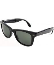 RayBan Rb4105 50 vouwen wayfarer zwarte 601-58 gepolariseerde zonnebril