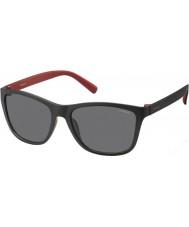 Polaroid Mens pld3011-s LLQ y2 zwart rood gepolariseerde zonnebril
