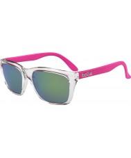 Bolle 527 retro inzameling glinsterende roze bruin smaragd zonnebril