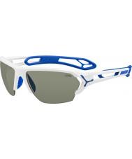 Cebe S-spoor grote glanzende witte zonnebril