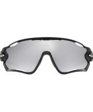 Oakley Oo9290-19 jawbreaker glanzend zwart - chroom iridium geventileerd zonnebril