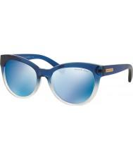 Michael Kors Mk6035 53 mitzi i blauw gearceerd 312.255 blauwe spiegel zonnebril