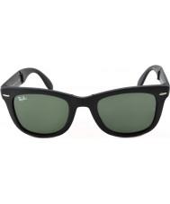 RayBan Rb4105 50 vouwen wayfarer mat zwart 601S zonnebril