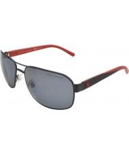 Polo Ralph Lauren Ph3093 62 ongedwongen living matzwart 927.781 gepolariseerde zonnebril