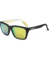 Bolle 527 retro inzameling matzwart graphics gepolariseerde bruin smaragd zonnebril