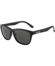 Bolle 437 retro collectie glanzende zwarte gepolariseerde tns zonnebril