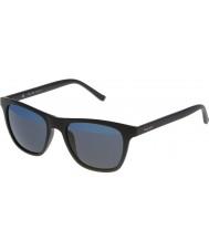Police Mens hot 1 s1936v-u28b matzwart mirrored blauwe zonnebril