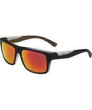 Bolle Clint mat zwart oranje gepolariseerde tns brand zonnebril