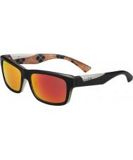 Bolle Jude mat zwart oranje gepolariseerde tns brand zonnebril