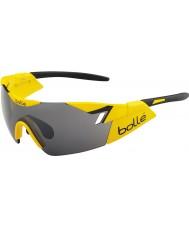 Bolle 6e zintuig glimmend geel zwart tns pistool zonnebril