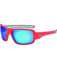 Cebe Changpa mat roze 1500 grijze flash mirror blauwe zonnebril