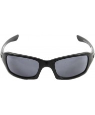 Oakley Oo9238-04 fives squared glanzend zwart - grijs zonnebril