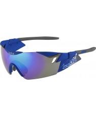 Bolle 6e zintuig s mat navy blauw-violet zonnebril