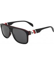 Cebe Chicago zwart rood 1500 grijs flash mirror zonnebril