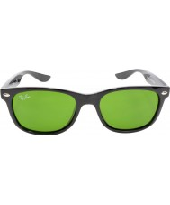 RayBan Junior Rj9052s 47 nieuwe wayfarer glanzende zwarte zonnebril 100-2