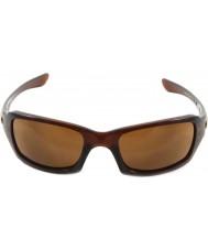 Oakley Oo9238-07 fives squared gepolijst rootbeer - donker brons zonnebril