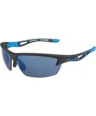 Bolle Bolt mat zwart roze-blauwe zonnebril