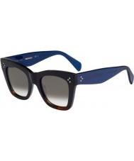 Celine Ladies cl 41.090-s QLT z3 zwart havana blauwe zonnebril