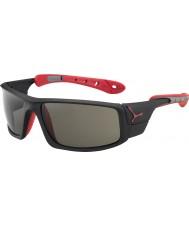 Cebe Ice 8000 mat zwart rood variochrom piek zonnebril