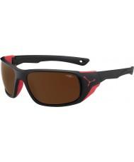 Cebe Jorasses grote mat zwart rood 2000 bruin flash mirror zonnebril