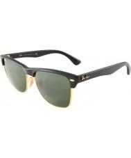 RayBan Rb4175 57 clubmaster oversized demi glanzend zwart-goud 877 zonnebril