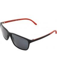 Polo Ralph Lauren Ph4092 58 matzwarte 550.481 gepolariseerde zonnebril