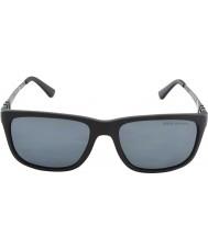 Polo Ralph Lauren Ph4088 55 mat zwart grijs 528.481 gepolariseerde zonnebril
