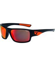 Cebe Whisper mat zwart oranje zonnebril