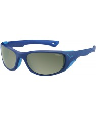 Cebe Jorasses medium mat donkerblauw variochrom piek flash mirror zonnebril