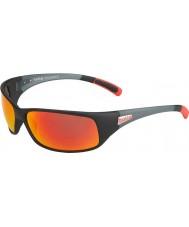 Bolle 12438 zwarte zwarte zonnebril terugdeinzen