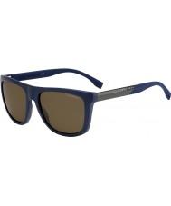 HUGO BOSS Mens boss 0834-s hwq sp blauwe gepolariseerde zonnebril
