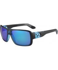Cebe Lam matzwarte 1500 grijze flash mirror blauwe zonnebril