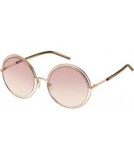 Marc Jacobs Ladies marc 11-s TXA 05 gouden bruine zonnebril
