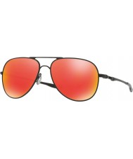 Oakley Oo4119-04 elmont m en l satin zwarte - ruby iridium zonnebril