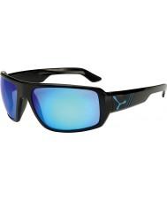 Cebe Maori glanzende zwarte blauwe zonnebril