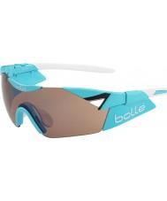 Bolle glanzende blauwe 6e zintuig s modulator steeg gun zonnebril