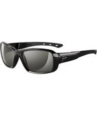 Cebe S-kiss glanzend zwarte zonnebril