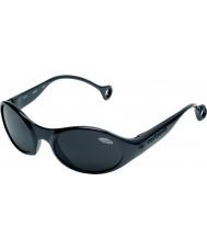 Cebe 1977 (leeftijd 3-5) glanzend glanzend zwart 2000 grijze zonnebril