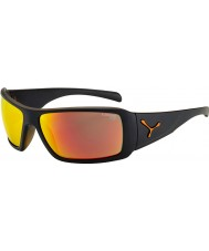 Cebe Utopie mat zwart oranje zonnebril